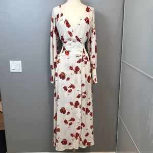 Free people wrap fall dress size M flowy floral